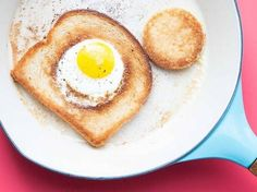 More common names for this easy breakfast recipe are eggs in a pocket, one-eyed jack, and baby in the hole.