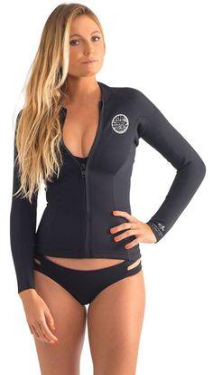 2mm Women's Rip Curl DAWN PATROL Front Zip Wetsuit Jacket