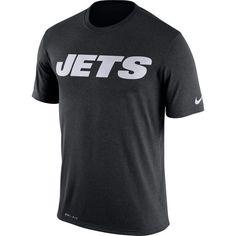 New York Jets Nike Legend Wordmark Essential 3 Performance T-Shirt - Black - $31.99