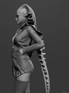 ArtStation - Alien girl, Nils Ruisch