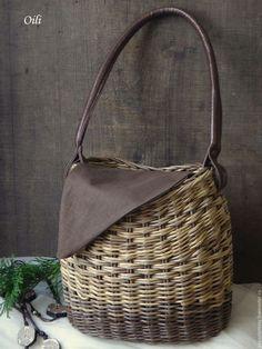 """Купить сумочка -корзинка """"Коханочка"""" - комбинированный, сумка ручной работы, сумка женская, плетеная сумка"""