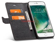 WHATIF iPhone 8 Plus Wallet Detachable 2 in 1 Stand Case
