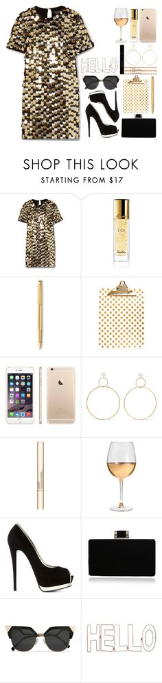 """394. H E L  L O"" by choosemaknae ❤ liked on Polyvore featuring Rachel Zoe, Guerlain, Caran d'Ache, Concepts in Time, Natasha Schweitzer, Jouer, Marc Blackwell, Giuseppe Zanotti, Fendi and Graham & Brown"