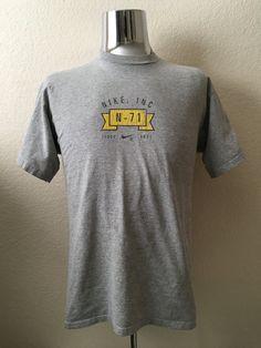 Vintage Men's 90's T Shirt, Grey,  Cotton, Polyester, Short Sleeve (M) by Freshandswanky on Etsy