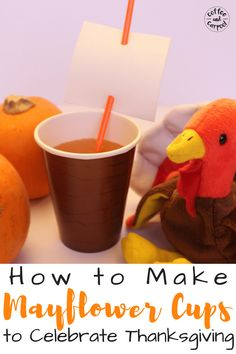 How to Make Mayflower Cups to Celebrate Thanksgiving Do you want a super simple and festive craft for your kids at the Thanksgiving dinner table? Make these Mayflower Cups to celebrate Thanksgiving this year. Thanksgiving Activities For Kids, Thanksgiving Ideas, Kindness Activities, Learning Activities, Festive Crafts, Fall Crafts, May Flowers, Projects For Kids, Art Projects