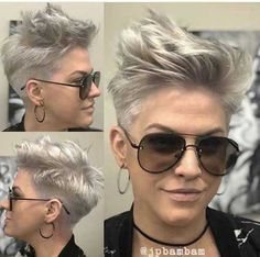 Trendiest Pixie Haircut for Women, 2018 Summer Short Hairstyle Ideas - New Hair Styles Edgy Pixie Hairstyles, Edgy Haircuts, Short Pixie Haircuts, Short Hairstyles For Women, Short Hair Cuts, Haircut Short, Trending Hairstyles, Hairstyles Haircuts, Rocker Hairstyles
