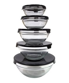 Another great find on #zulily! Black 10-Piece Storage Bowl Set by Micro World #zulilyfinds