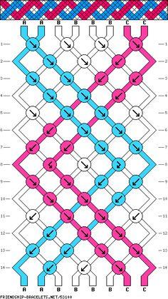Pulsera de 8 Cordones, 3 Colores y 14 Filas