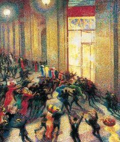 Émeute sous les arcades, par Umberto Boccioni