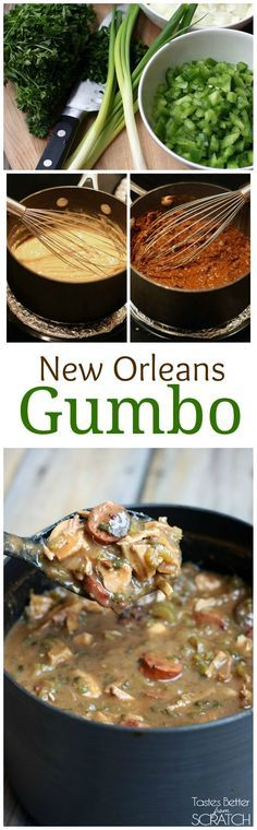 Never had this....but ALWAYS wanted to try it! Authentic New Orleans Style Gumbo recipe on TastesBetterFromScratch.com