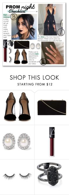 """""""Prom Night Checklist"""" by kristennevanss on Polyvore featuring Gianvito Rossi, Dorothy Perkins, Kenneth Jay Lane, NARS Cosmetics, tarte, Kendra Scott, Prom, makeup, trend and PROMNIGHT"""