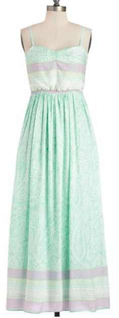 Gorgeous paisley maxi dress in #mint - on sale for $41.99! http://rstyle.me/n/i4jp5nyg6