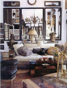 Parisian apartment... Edward Zajac classic with hint of bohemia