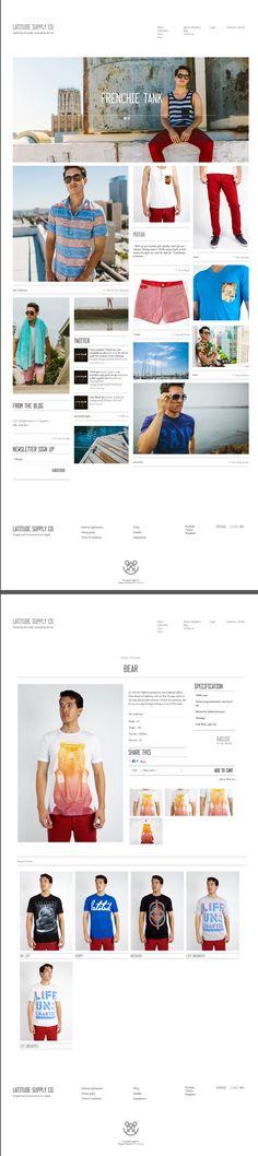 Mada. #web, #grid  http://www.webdesignserved.com/gallery/Latitude-Supply-Co/4715411