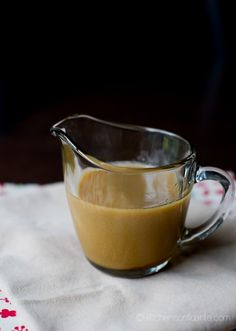 Homemade Butterscotch Sauce which can be used to make butter beer