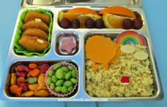 Sun, Couscous and Nuggets Bento Lunch. #planetbox