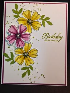 I found this fun card made by Louise at Stampin Delight .  I thought it looked like a fun card to make.  And it was!!!  It was extremely ...