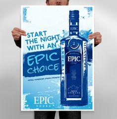 Poster design by Durham Brand & Co. #spirits