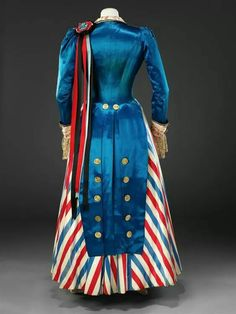 Get ready for upcoming memorial services and independence celebrations! Fancy Dress Costume, early 1890s from The John Bright Collection.