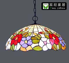 fashion rustic tiffany pendant lamp romantic flower living room bar lights home decoration