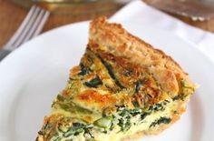 Asparagus, Spinach, & Feta Quiche — Punchfork