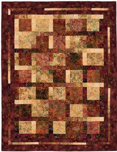 """Sunset Strippy Quilts"" from the book More Twist-and-Turn Bargello Quilts by Eileen Wright"