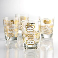 Retro Double Old Fashioned Glasses - Set of 2
