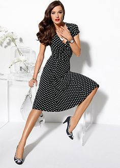 Polka dot dress from VENUS women's swimwear and sexy clothing. Order Polka dot dress for women from the online catalog or Holiday Dresses, Summer Dresses, White Polka Dot Dress, Polka Dots, Affordable Fashion, Ideias Fashion, Autumn Fashion, Gq Fashion, Cool Outfits