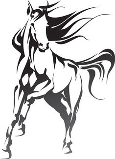 Horse Stencil, Native American Horses, Animal Templates, Horse Logo, Horse Silhouette, Horse Pattern, Majestic Horse, Thoroughbred Horse, Horse Print