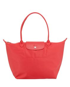 LONGCHAMP Le Pliage Large Tote Bag, Red. #longchamp #bags #leather #hand bags #nylon #tote #