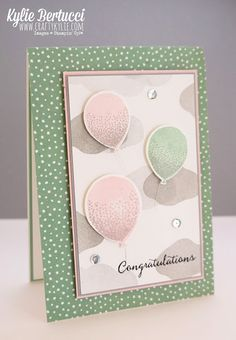 Stampin' Up! Australia: Kylie Bertucci Independent Demonstrator: Global Design Project 015 Celebrate | Balloon Celebration