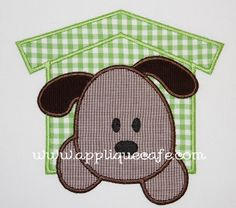 I love this.  I could try to put your pet's name on the dog house. I love the brown gingham and I already have green gingham