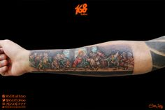 Last Supper color tattoo
