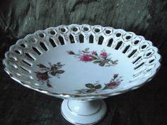 Vintage Fancy Floral Compote or Candy Dish by FoxVintageandAntique, $10.00