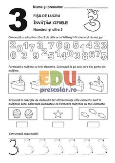 fise de lucru cifre mt05 3-2 Thing 1, Word Search, Words, Calculus, Horse