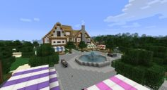Minecraft: Town square Minecraft Architecture House styles