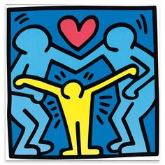 HARING Untitled 1989 de Pop Art, 40x40 cm