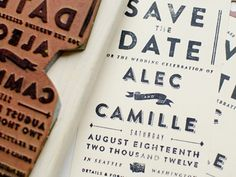 """""""Save The Date"""" stamp"""