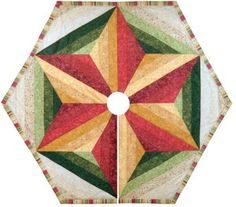 "I would love to make this as a tree skirt.  From  ""PT Quilting"""