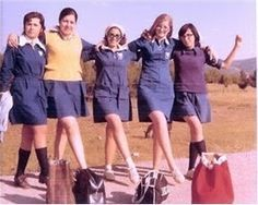 Going to School . nothing like today's schools . and having to wear the mandatory uniforms. Sweet Memories, Childhood Memories, A Decade, My Memory, Vintage Images, Old Photos, Love Fashion, Greece, Nostalgia