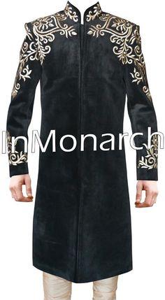 Debonair Look Groom Sherwani Traditional Designer Mens Wedding Suit SH452