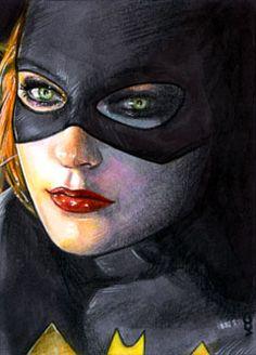 Batgirl Sketch Card 5 by ~veripwolf on deviantART