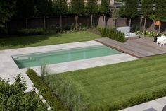 Modern Landscaping, Backyard Landscaping, Pool Backyard, Patio, Simple Pool, Swimming Pool Decks, Mini Pool, Porch Plans, Modern Pools