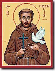 Saint Francis of Assisi - Patron Saints of animals; the environment; Italy; merchants; stowaways. Feast Day October 4.