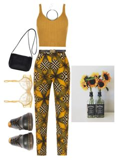 """🕸"" by lucielux ❤ liked on Polyvore featuring Stella Jean, WearAll, La Perla, BCBGMAXAZRIA and Dr. Martens"
