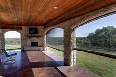 Perfect view through motorized retractable screens. Bug-free outdoor living space. Universal MotionScreens