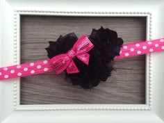 Minnie Mouse headband Minnie Mouse baby headband by MiaBellaBands, $10.00