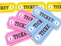 Pretend Tickets Printable - Things to Make and Do, Crafts and Activities for Kids - The Crafty Crow