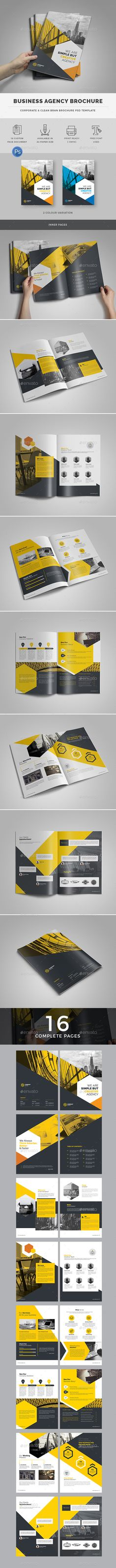 Business Agency Brochure Template — Photoshop PSD #white #graphic • Download ➝ https://graphicriver.net/item/business-agency-brochure-template/18999884?ref=pxcr