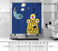 CUSTOM DESIGNS: I am always ready to redesign and produce your shower curtain in individual sizes. Feel free ask me about, using my contact form. We may design and produce also an individual textile design, keeping your desire and requirement for it. THE DESIGN: All designs are unique and ownership of Cool Bedding online store. The images are hand or digitally painted, vectorized and computer processed. The textiles and the technology we use, ensure vibrant colors. These woven polyester…